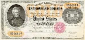 $10000 gold certificate 1915