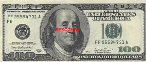 $100 FRN Note